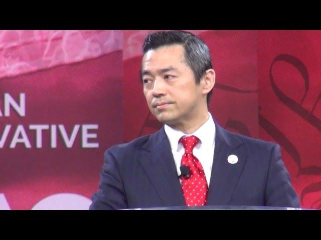 JCU議長・あえば直道が、アメリカ最大の政治集会「CPAC」で、日本人として初めてメインステージで演説しました